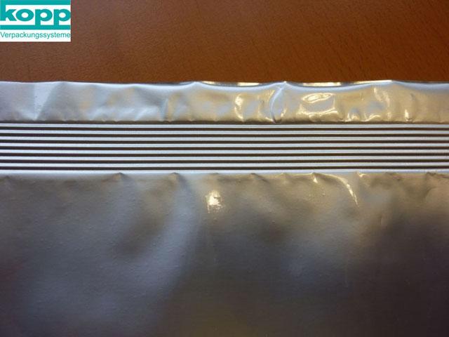 Längsgerillte Siegelnaht Heißsiegelgerät K600