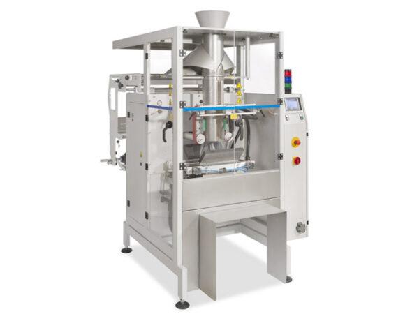 Zum maschinellen Herstellen, Befüllen und Verschließen von Beuteln mit Beutelbreiten bis zu 350 mm