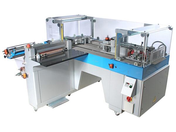 Halbautomatische Falteinschlagmaschine (Cellophanierer) Semiauto