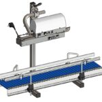 Table stand with roller conveyor