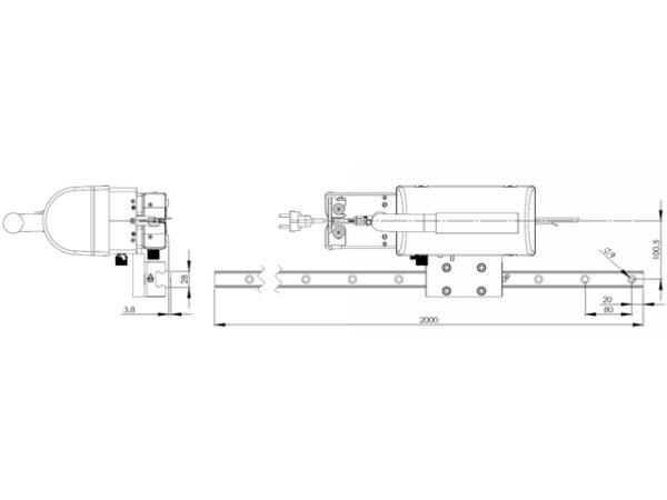 Durchlaufsiegelgerät MSCS mit Schienensystem