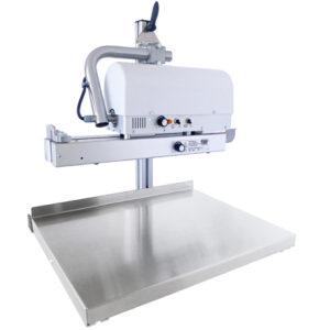 Durchlaufschweißgerät MSP Plus mit Beutelauflage zur Produktunterstützung