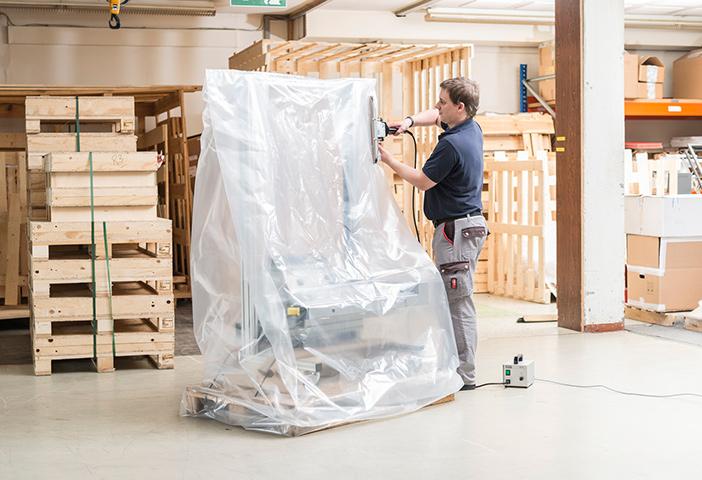Lagerverpackung PE Folienschweißzange SZ