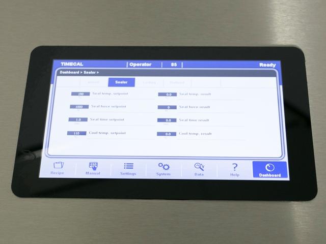 Touchpanel Folienschweißgerät MVMEDPLUS