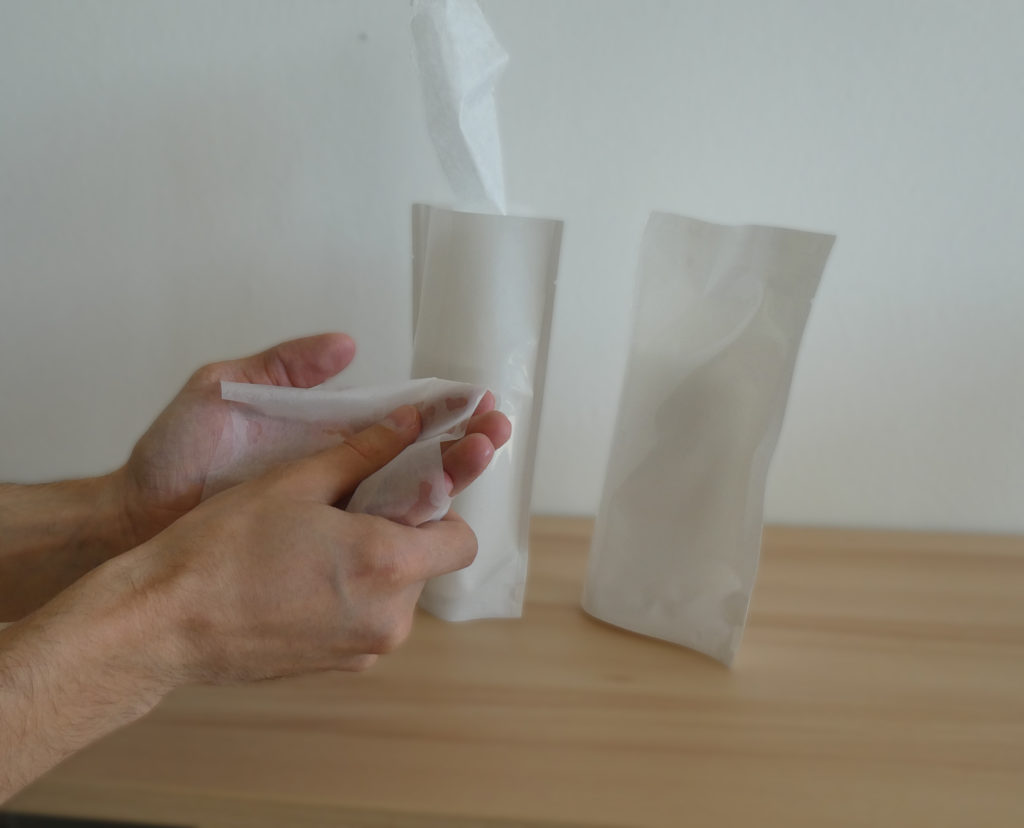 Packaging of disinfection wipes